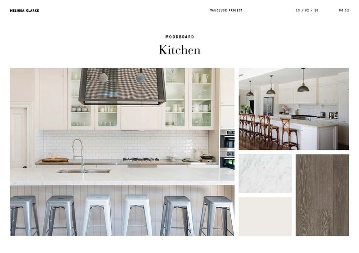 Vaucluse project | Kitchen moodboard by Melinda Clarke Interiors