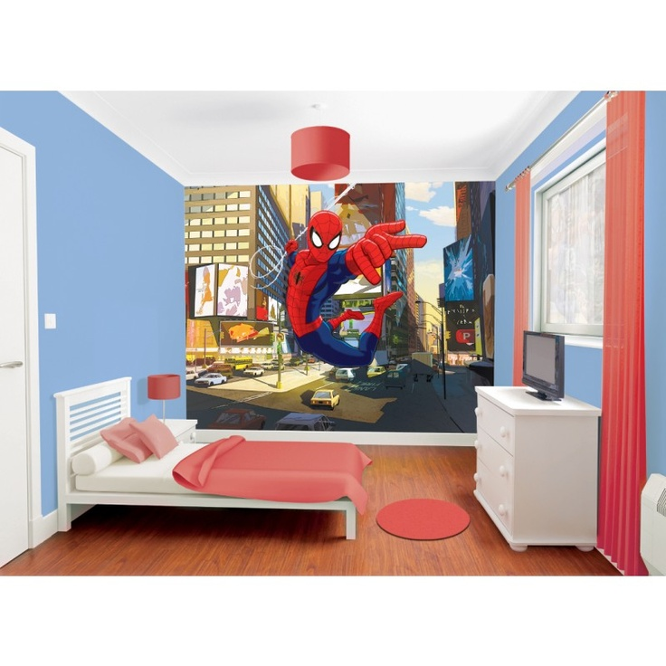 Superbe papier peint spiderman for Decoration chambre spiderman