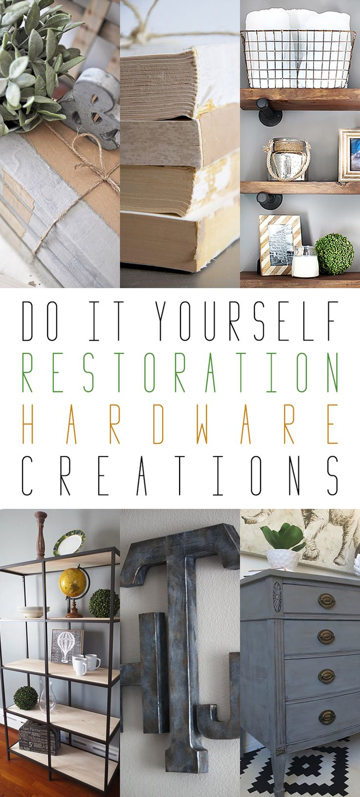 DIY Restoration Hardware Inspired Creations. Industrial FarmhouseFarmhouse  StyleIndustrial StyleThe CottageCraft CornerLaundry RoomRestoration ...