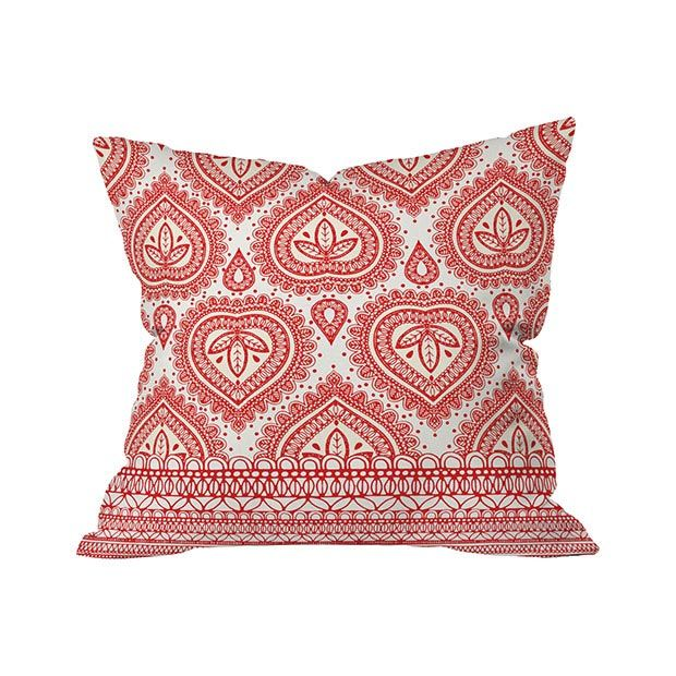 Be still, my heart! The Valentinia Outdoor Throw Pillow will charm the daylights out of you with its tasteful, symmetrical pattern of decorative hearts and leaves. Red and white work so well together, ...  Find the Valentinia Outdoor Throw Pillow, as seen in the Outdoor Pillow Sale Collection at http://dotandbo.com/collections/outdoor-pillow-sale?utm_source=pinterest&utm_medium=organic&db_sku=105591