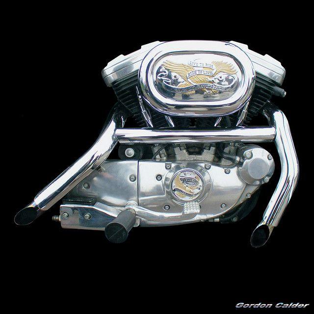 NO 26: HARLEY DAVIDSON SPORTSTER MOTORCYCLE ENGINE by Gordon Calder, via Flickr