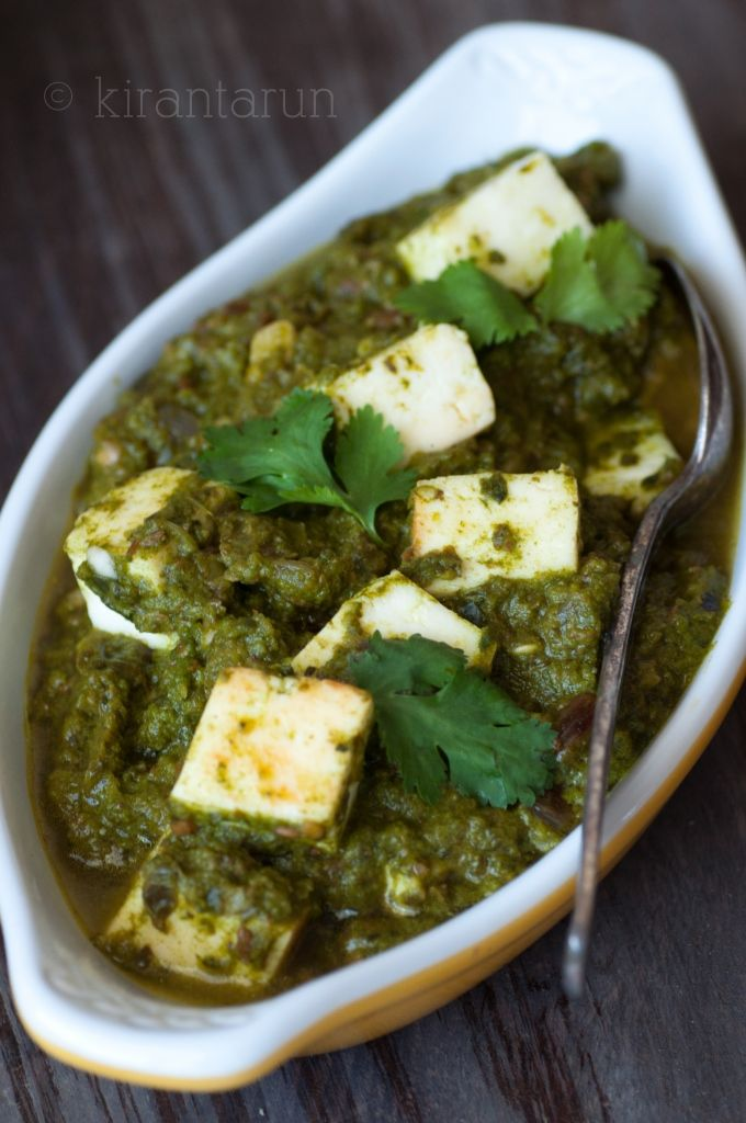 Palak Paneer (Spinach Paneer) with Homemade Paneer