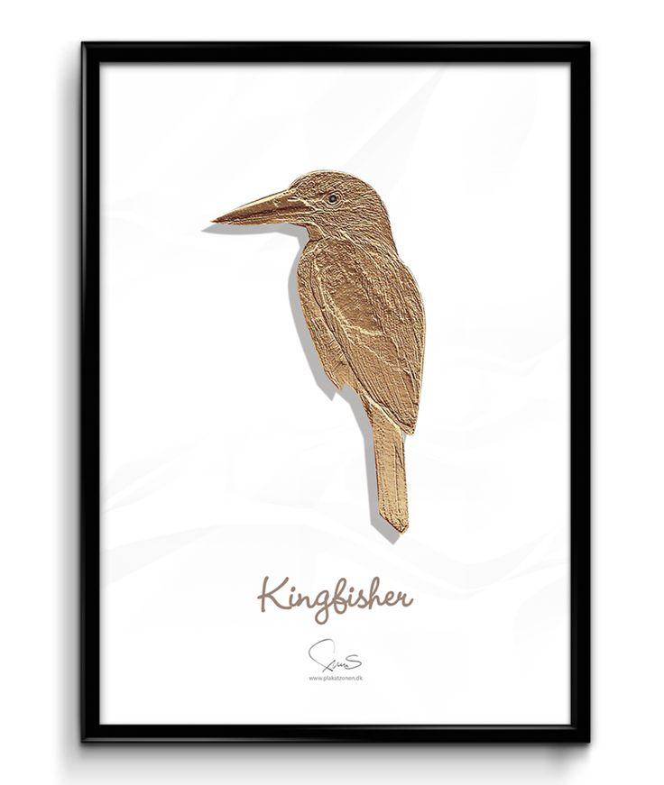 Kingfisher ( A2 42x59,40 Cm ) guld