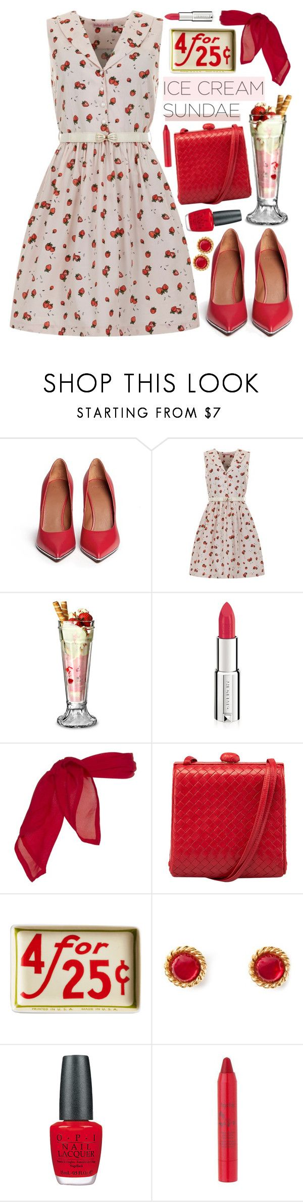 """""""Ice Cream Sundae"""" by chloe ❤ liked on Polyvore featuring Givenchy, Trollied Dolly, Knickerbocker, Rosanna, Chanel, OPI and tarte"""