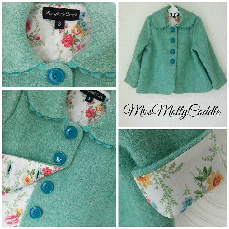 'Wildflowers' Little Ladies Coat - Size 3