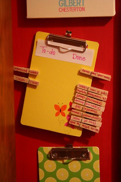Cute Chore Chart idea for when the E is older :)