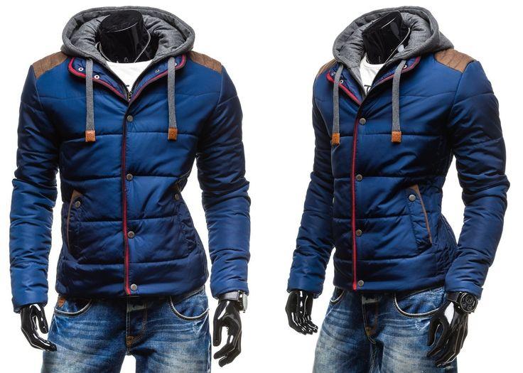 EXTREME 336 - GRANATOWY GRANATOWY | On \ Kurtki męskie \ Kurtki zimowe | Denley - Odzieżowy Sklep internetowy | Odzież | Ubrania | Płaszcze | Kurtki