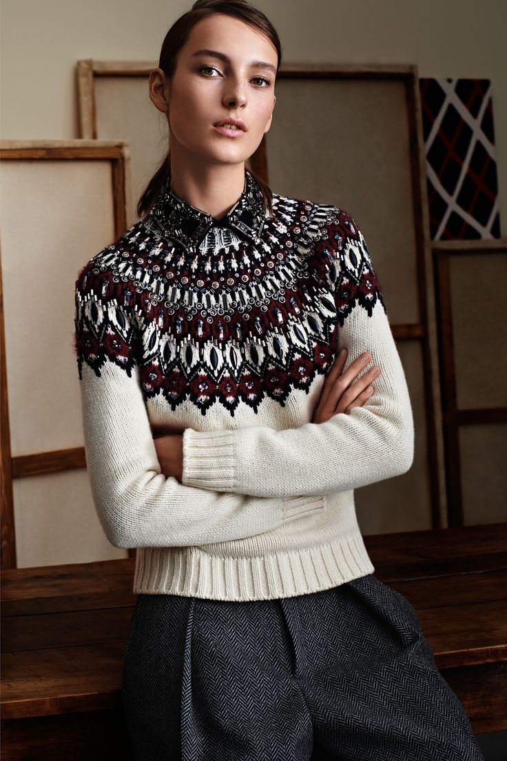 Gucci Pre-Fall 2015 - Collection - Gallery - Style.com  Inspired by traditional Icelandic Lopi. Love it!: