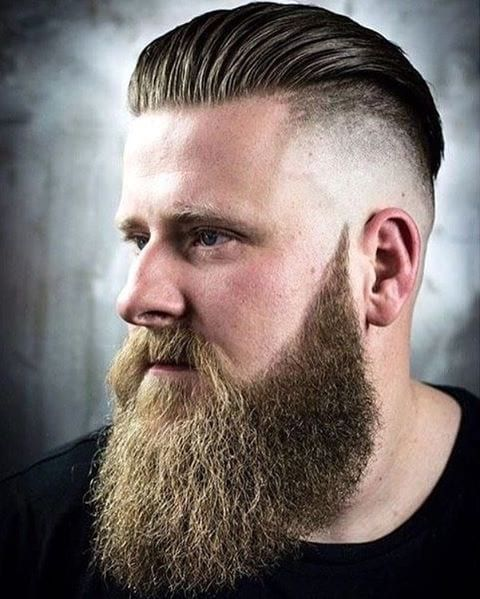 Image result for High Fade with Beard and Long Layers.