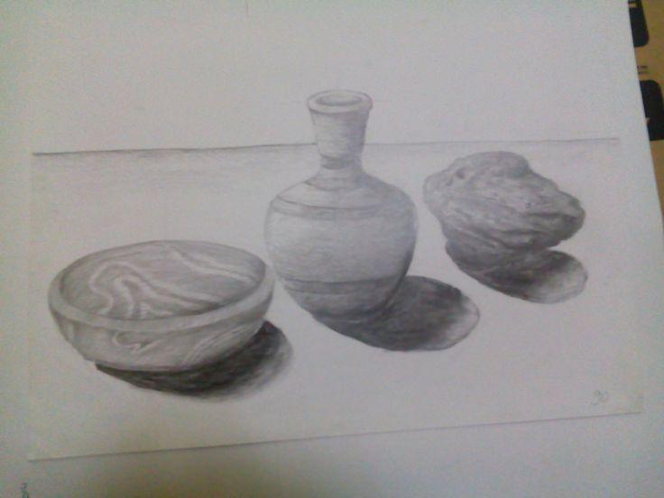 Latihan arsis, object kayu, kendi, batu, on the spot
