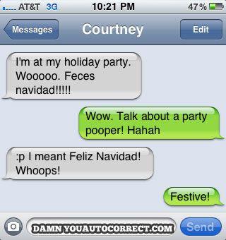 funny auto-correct texts - 10 Hilarious Christmas Holiday Autocorrect Fails:
