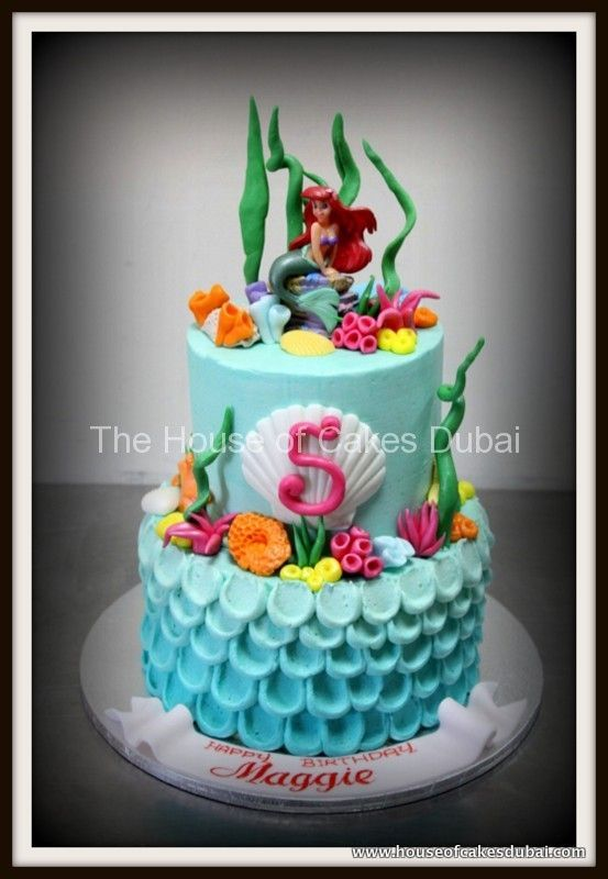 buttercream ariel cake