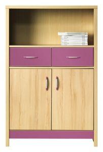 CD5 CODI BOGFRAN cabinet. Spacious 2-door cabinet with two drawers and open shelf. Polish Bogfran Modern Furniture Store in London, United Kingdom #furniture #polish #bogfran #dresser #cabinet