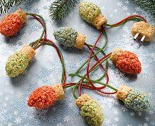 Rice Krispies Holiday Lights #holidaybaking #recipe #ricekrispies #treats #decorate #christmastree