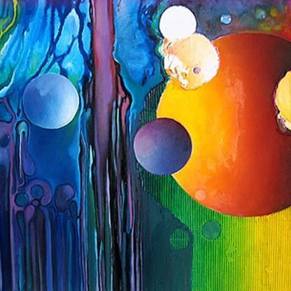 """Limitless undying #love which shines around me like a million suns it calls me on and on across the #universe."" ― John Lennon ❇   Hans Scholte in 't Hoff  #colours #abstract #painting #surreal #surrealart #surrealism #art #arte #creativity #instaart"