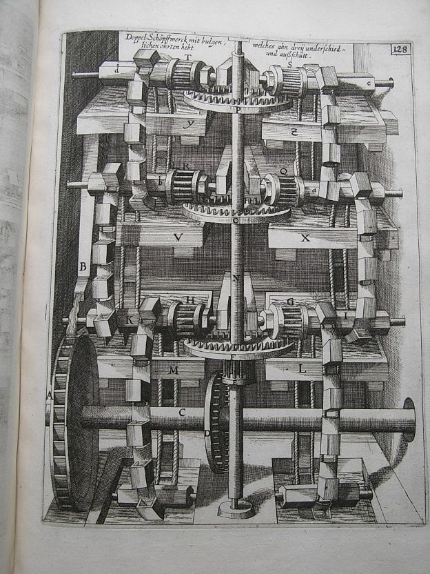 1673 Mechanical Engineering WATER WHEELS Windmills Pumps MILL MACHINERY Engines | eBay