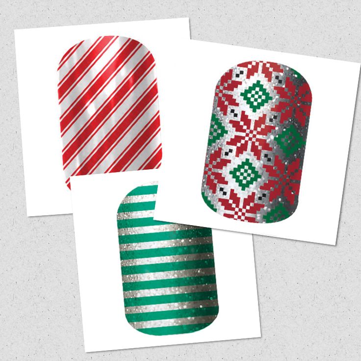 Meli's Mélange of Jamberry Nail Wraps | Candy Cane ~ Poinsettia ~ Peppermint Patty | Get 'em here: http://melichase.jamberrynails.net/
