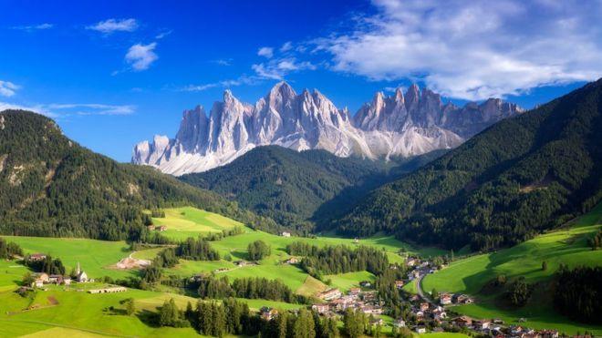 Montañas en Tirol del Sur.