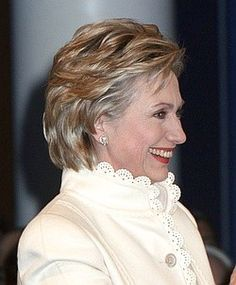 recent hairstyles for hillary clinton | Hillary Clinton Sports New Hairstyle At Arkansas Library