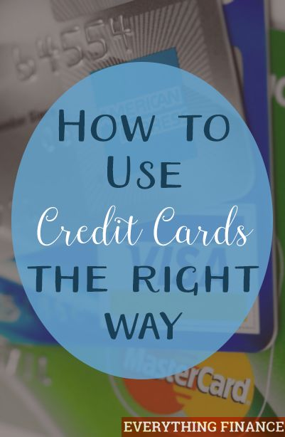 How to Use Credit Cards the Right Way? Credit cards have long been heralded as the Lord Voldemort of the personal finance community. They seem to be often viewed as one of the worst things you can do when it comes to financial stability and integrity. http://everythingfinanceblog.com/use-credit-cards-responsibly.html