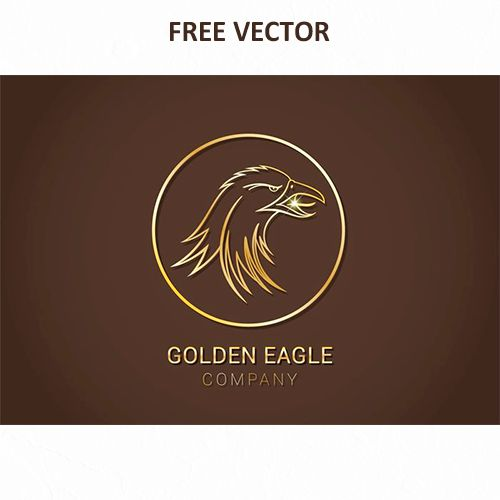 Логотип золотой орел вектор eps скачать