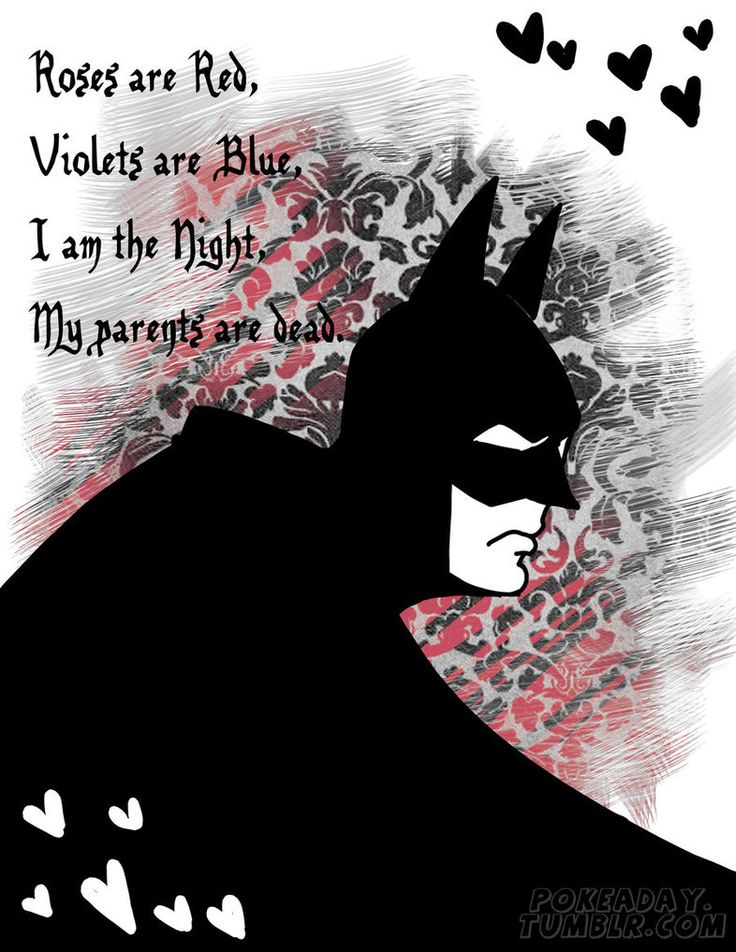 Batman Valentine By *Pokeaday On DeviantART