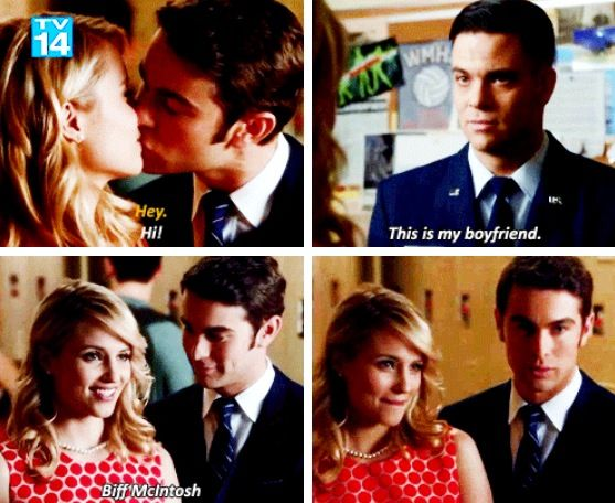 Quinn introduces her new boyfriend Biff to Puck