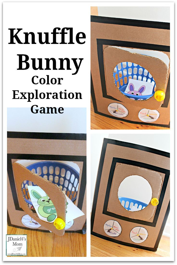 Knuffle Bunny Color Exploration Game with Printable Bunny Cards