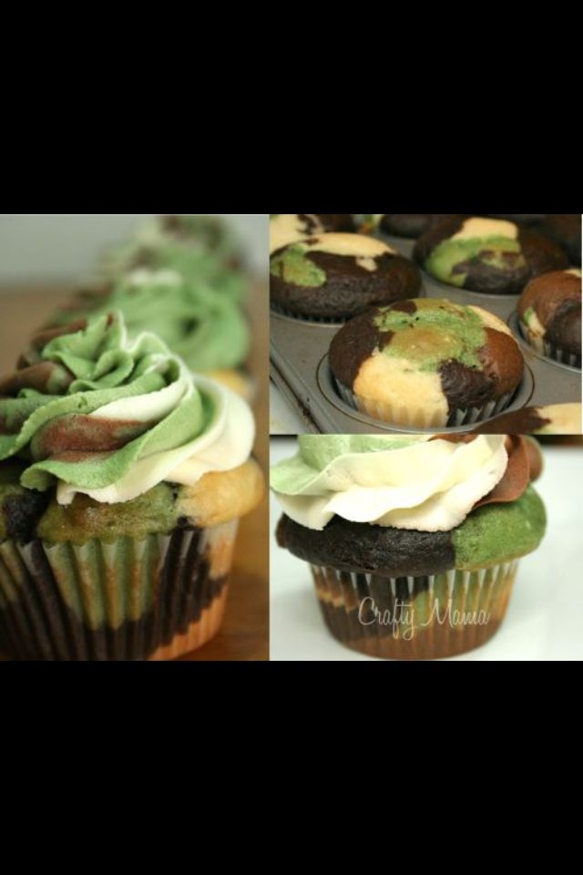 Camo cupcakes!! A must have for a camo party
