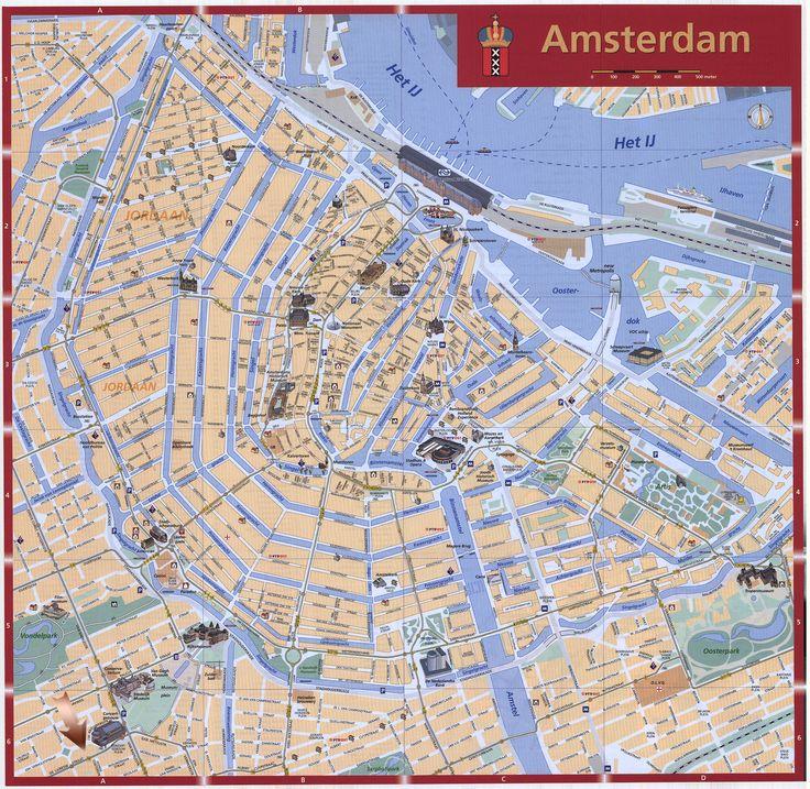 Resultado de imagen de mapa amsterdam imprimir