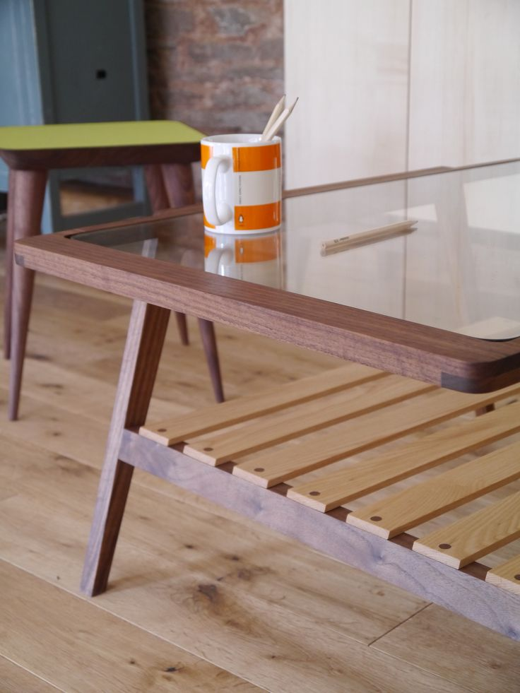 Arch Coffee Table made from Black Walnut and White Ash by Barnby & Day.