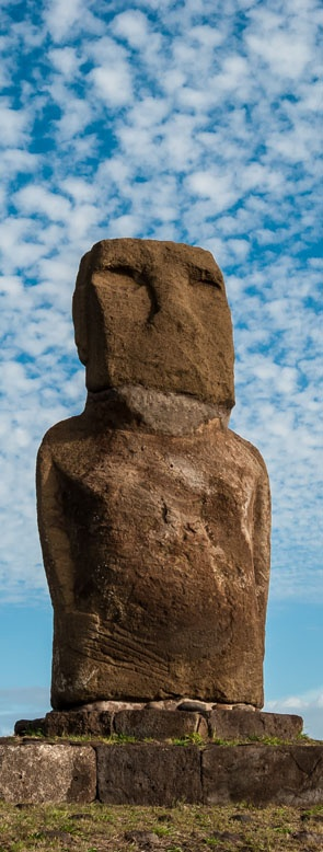 This solitary #Moai (statue) is found at Ahu Riata, Easter Island. Find out more at http://easterislandguidebook.com #easterisland #isladepascua