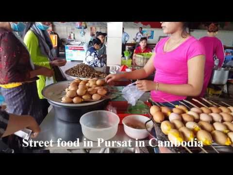 Street food at Pursat province, Capitol bus park