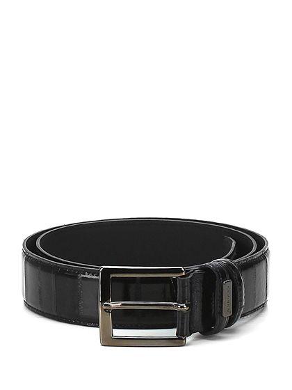 CESARE P. - Cinture - Accessori - Cintura in pelle lavorata con fibbia metallica, altezza 3,5 cm. - NERO - € 98.00