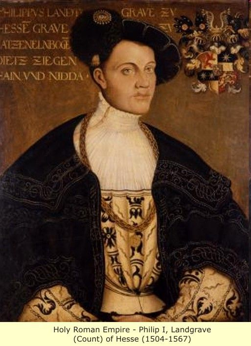 Holy Roman Emperor - Philip I, Landgrave (Count) of Hesse (1504-1567)