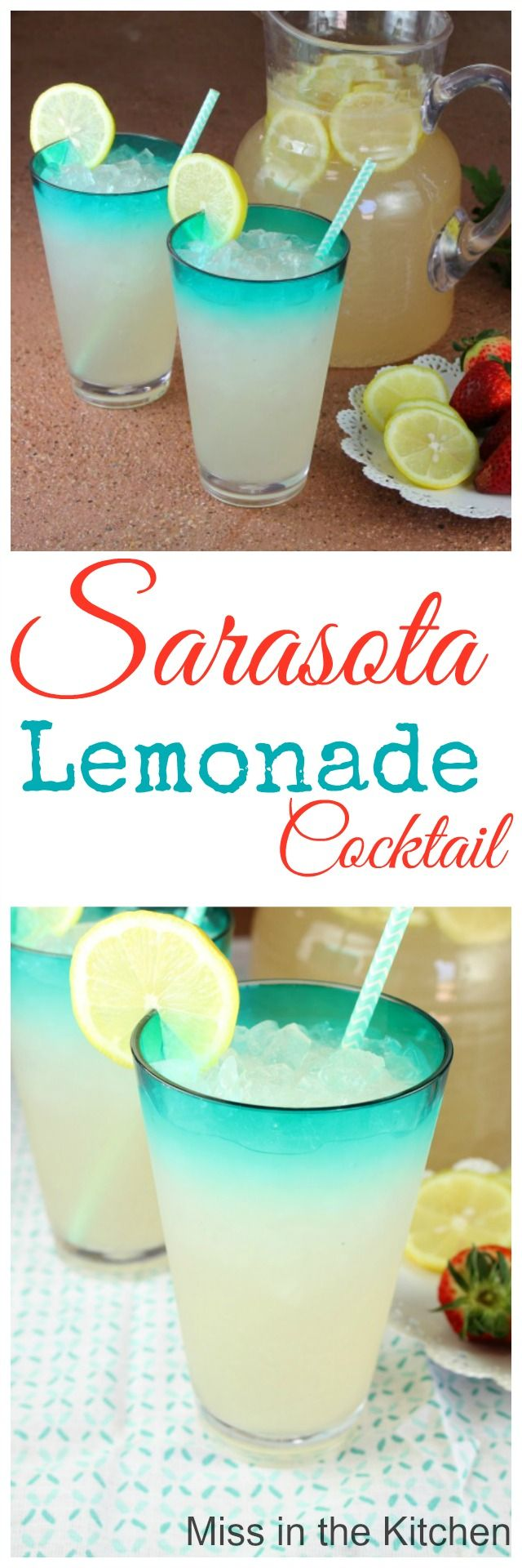 Sarasota Lemonade Cocktail Recipe from MissintheKitchen.com