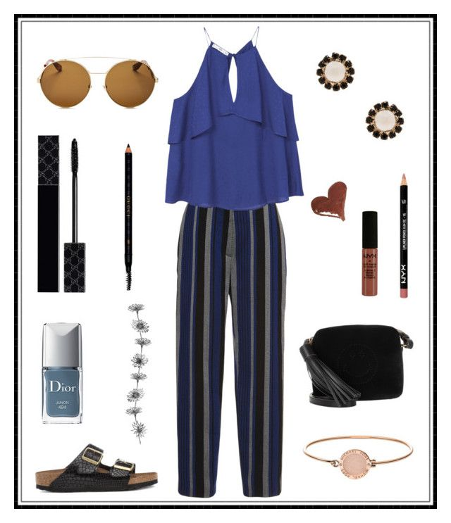 """#151"" by e-elmedal on Polyvore featuring Proenza Schouler, MANGO, Birkenstock, Givenchy, Michael Kors, Anya Hindmarch, NYX, Gucci and Christian Dior"