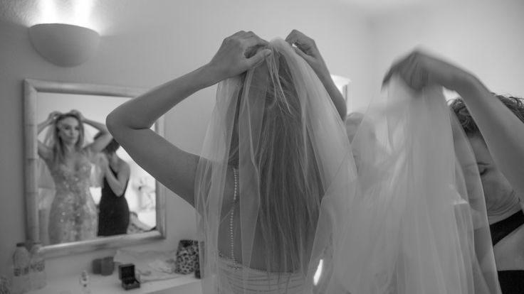 bridal veil preparation photos wedding dress white wedding beautiful happy bride