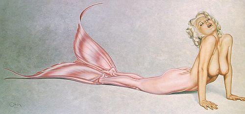 Olivia DeBerardinis mermaid pinup