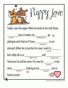 vday mad libs for the writing center