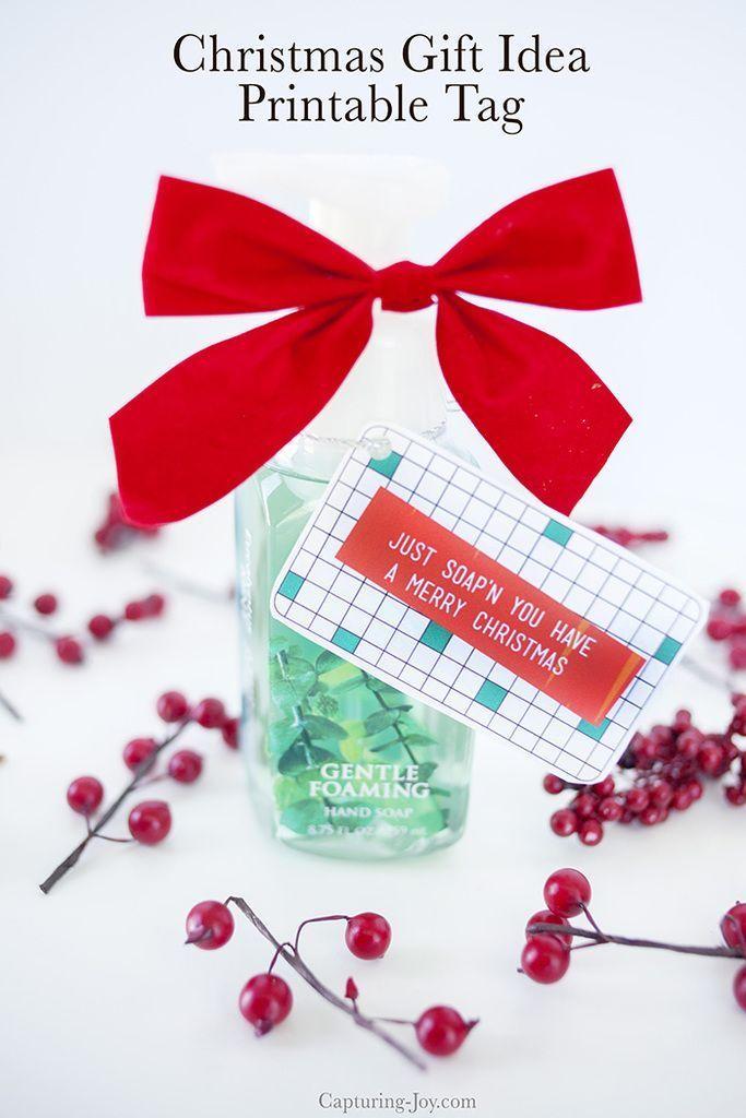 Soap Christmas Gift Idea - Hand Soap Teacher Gift and Neighbor Gift