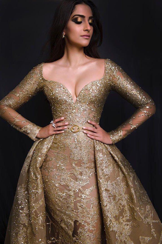 Golden girl Sonam Kapoor at Cannes 2017.