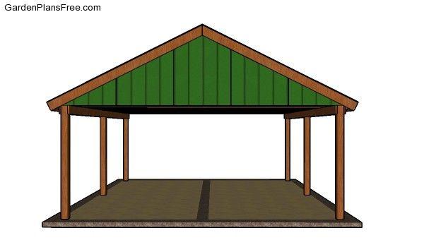 2 Car Carport Plans Free Pdf Download Free Garden Plans How To Build Garden Projects Carport Plans 2 Car Carport Double Carport