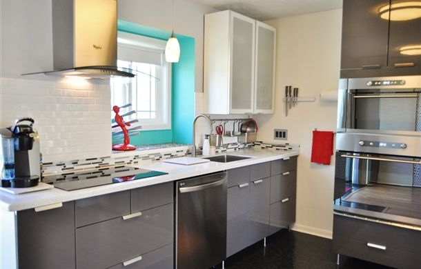 Something like Kelli Perkins's ABSTRAKT gray kitchen (on IKEA Share Space) If we ever can afford it   !