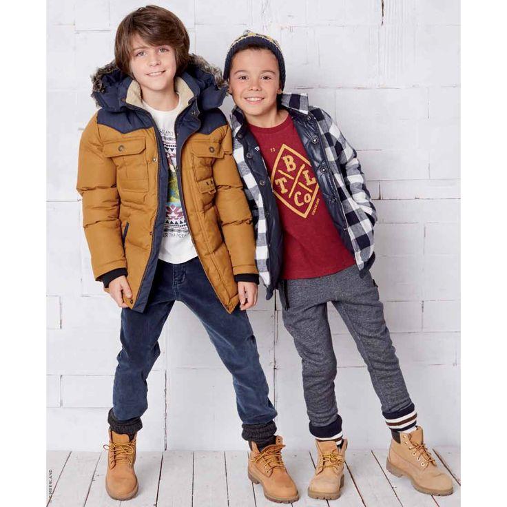 Padded coat Timberland for boys   Melijoe.com