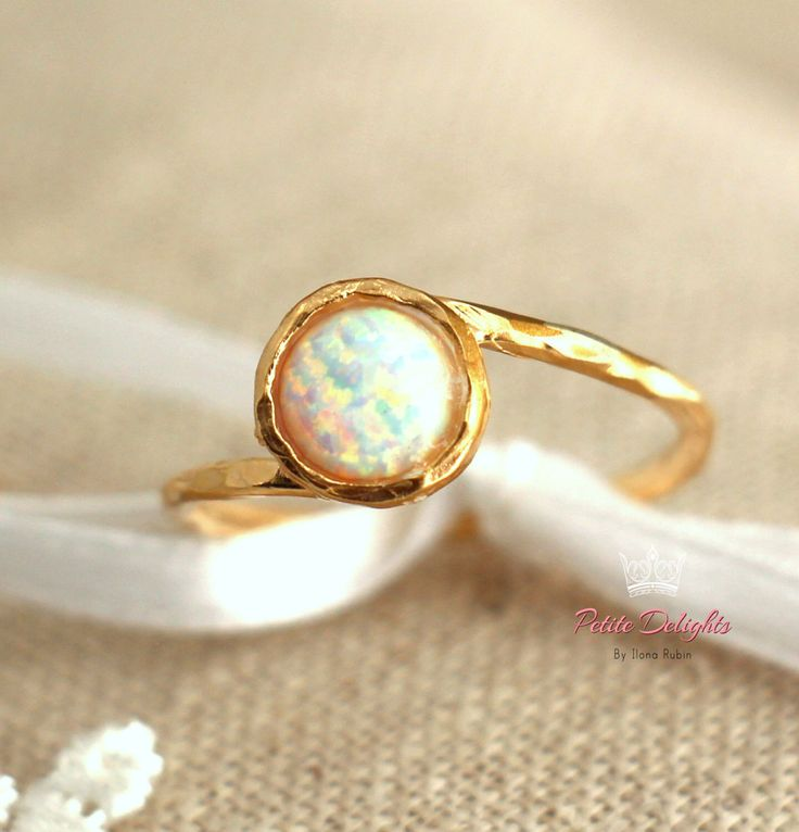 Opal Ring,Opal Gold Ring,Gift for her,Dainty Ring,White ...