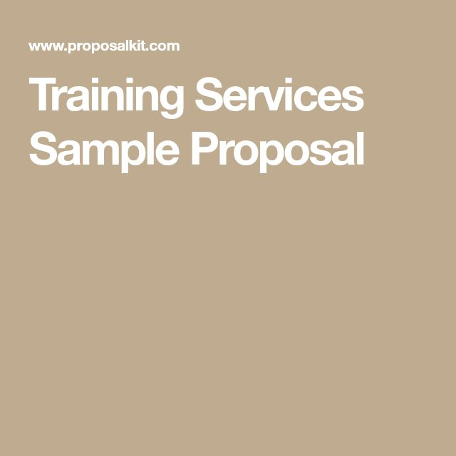 The  Best Proposal Sample Ideas On   Business