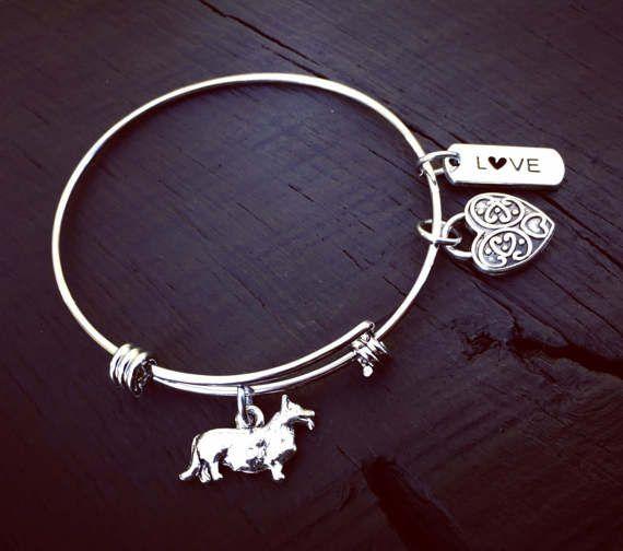 Corgi Charm Bracelet  Corgi Jewelry  Jewelry Gift For Corgi