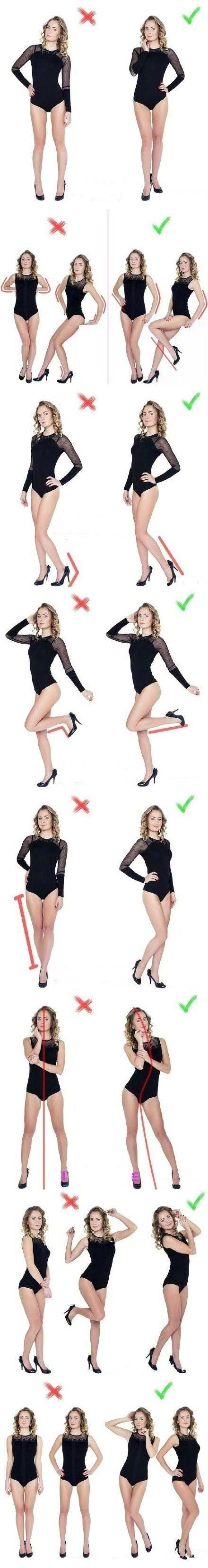 Posing - correctly vs incorrectly