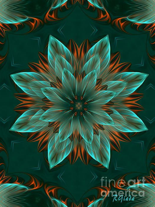 The Flower of Hope - Optomistic Abstract Art by Giada Rossi. Fine art prints and posters for sale.  #giadarossi #abstractart #digitalart